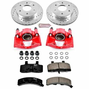 Powerstop 2 wheel Set Brake Disc And Caliper Kits Front Chevy Kc1970
