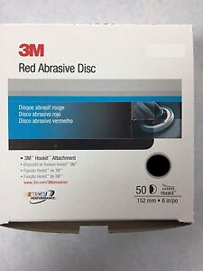 3m 01189 6 600 Grit Red Abrasive Hookit Disc 1189 50 Per Box