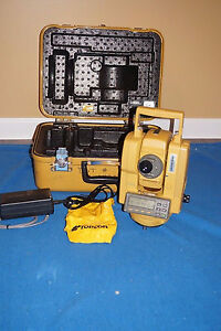 Topcon Gts 202 Total Station New Battery And Charger Case