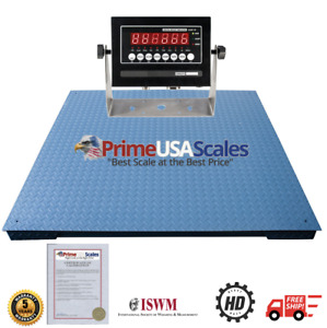 Ntep 10 000 Lb 2 Lb 48x48 Legal For Trade Floor Scale With Indicator