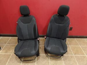 2016 Dodge Dart Front Black Cloth Pair Seat Seats 16 Street Rod Project