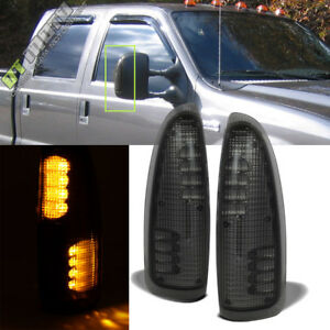 2003 2007 Ford F250 f350 f450 Super Duty Tow Mirror Led Turn Lights Smoke Lens