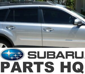 2010 2014 Subaru Outback Oem Side Window Deflectors Vent Visors E3610aj200