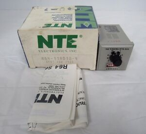 Nte R64 11ad10 4 Programmable Time Delay Relay 10a 240v