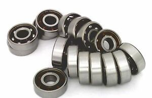 16 Inline rollerblade skate Bearing Chrome Steel Open Ball Bearing With Nylon Ca