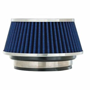Spectre Performance 8166 Cone Air Filter 3 3 5 4 X 3 7 Tall Blue Chrome