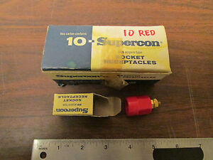 Box Of 10 Superior Electric Supercon 25 Amp 600v Sockets 10 Red New