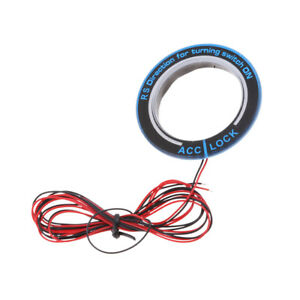 Auto Car Starter Ignition Key Hole Circle Ring With Red Led Light For Ford
