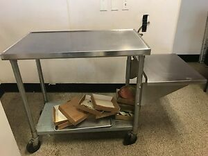 Stainless Steel Cart On Wheels Great Condition