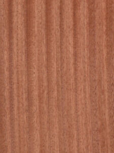 Ribbon Sapele mahogany Wood Veneer 4 X 8 Sheet Quartered Wood On Wood