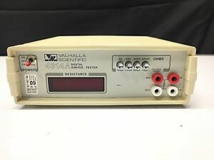 Valhalla Scientific 4314a Digital Igniter Tester 20 To 20000o 15ma To 15ua As is