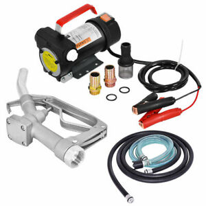 12v 10gpm Electric Diesel Oil And Fuel Transfer Extractor Pump W Nozzle Hose