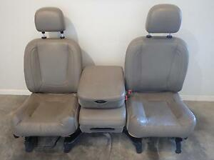 02 09 Dodge Ram 1500 2500 3500 Front Seats Console Bench Tan Vinyl Power