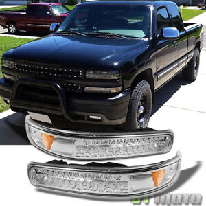 99 02 Silverado 00 06 Tahoe Suburban Full Led Bumper Signal Lights Lamps