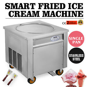 Free Tax Smart Thai Fried Ice Cream Roll Machine Single 50 Cm Pan 110v 60hz