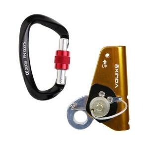 22kn Rope Grab With 25kn Carabiner For Climbing Tree Rigging Fall Protection