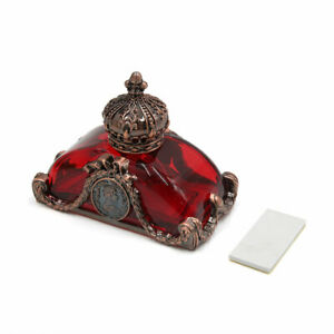 Brown Red Crown Shape Truck Car Perfume Bottle Air Freshener Diffuser Decoration