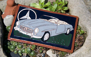 Very Nice Vintage Car Automobile Tile Mercedes Benz 300 Sl Gullwing Cabrio