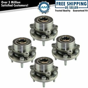 Wheel Bearing Hub Assembly Front Rear Kit Set Of 4 For Ford Explorer New