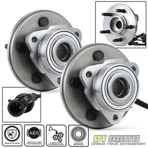 Pair 2 Front Abs Wheel Hub Bearing Assemblies Ford Explorer Lincoln Mercury