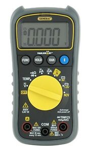 General Ts04 Toolsmart Digital Multimeter Gray Lcd