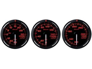 Defi Red Racer 52mm 3 Gauges Set turbo Boost oil Pressure water Temperature