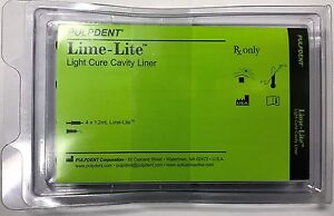 Pulpdent Lime lite Kit Light Cure Cavity Liner 4 X 1 2ml Syringes 8 Tips