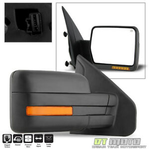 2007 2014 Ford F150 Power Heated Led Signal Puddle View Mirror Right Passenger