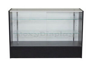 Black Full Vision Showcase Display Case Store Fixture Knocked Down Case sc5bk