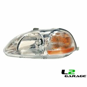 Fits Honda 96 98 Civic Sedan Coupe Hatchback Headlight Lamp Lh Left Driver Side