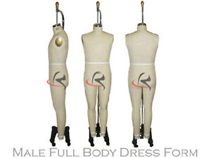 Professional Male Full Size Dress Form Mannequin Male Full Size 38 W legs