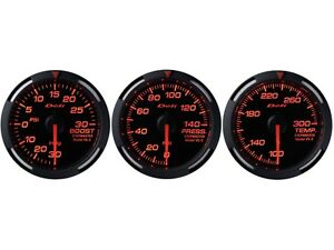 Defi Red Racer 60mm 3 Gauges Set turbo Boost oil Pressure water Temperature
