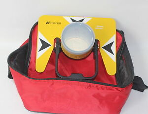 Yellow Metal Prism Set W bag For Topcon Nikon Sokkia Pentax Total Station Survey