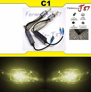 Led Kit C1 60w H3c 3000k Yellow Two Bulbs Fog Light Replacement Oe Lamp Upgrade