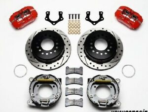 Dodge Charger Challenger Wilwood Dynapro Rearparking Brake Kit 11 Drill Rotors