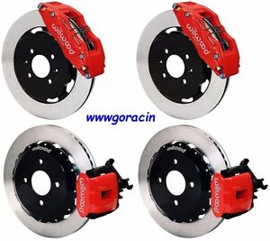 Wilwood Disc Brake Kit 1990 1997 Honda Civic 12 Rotors Red Calipers 6 4 Piston