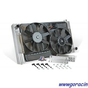 Universal Fit Flex fit Aluminum Radiator Electric Fans With Shroud 33 5 8 W
