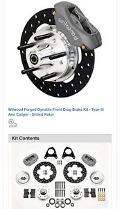 1987 1993 Ford Mustang Wilwood Forged Dynalite Front Drag Race Brake Kit 10 75