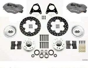 Wilwood Forged Dynalite Front Drag Race Brake Kit fits 1987 1993 Ford Mustang