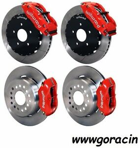 Wilwood Disc Brake Kit complete 1993 1997 Pontiac Firebird red Calipers 13 12