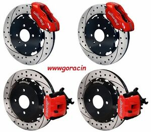 Wilwood Disc Brake Kit acura Integra Honda Civic 12 19 Drilled Rotors red