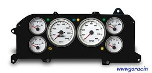 New Vintage Usa performance White Gauge Set Fits 1987 93 Ford Mustang gt lx 5 0