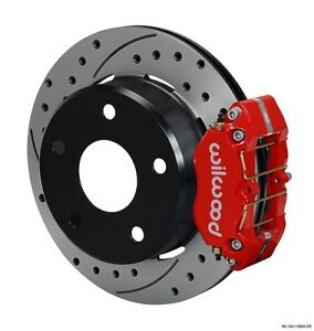 Wilwood Dynapro Rear Brake Kit Fits 1966 1975 Ford Bronco 4 Piston Calipers 12