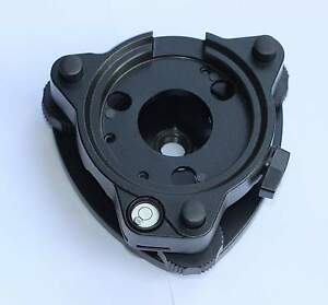 New Three jaw Black Tribrach Without Optical Plummet Fits Leica Total Station