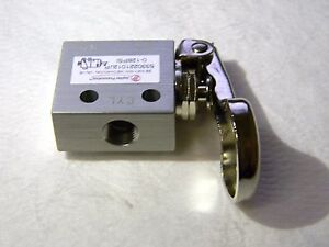 Jupiter Pneumatics 1 8 Npt 3 2 Way Finger Button Mini Valve 5330221012jp