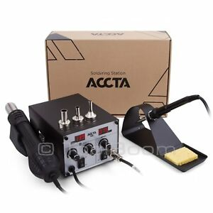 Accta 301 Hot Air Rework Station Soldering Iron Hot Air Gun 450 W 220v