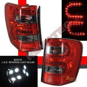 99 04 Jeep Grand Cherokee Led Tail Lights Red Smoke W Led Reverse 1 Pair