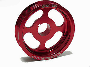 Obx Red Underdrive Crank Pulley For 03 07 Accord 02 04 Rsx Type S 04 08 Tsx