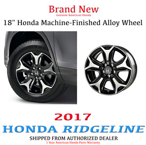 Genuine Oem Honda Ridgeline 18 Machined Black Painted Alloy Wheel 2017