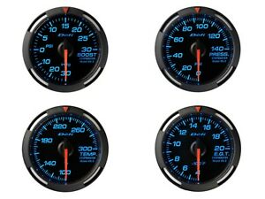 Defi Blue Racer 52mm 4 Gauges Set boost fuel Pressure oil Temp egt